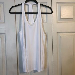 GAP FIT Small White Racerback Tank Top Wicking